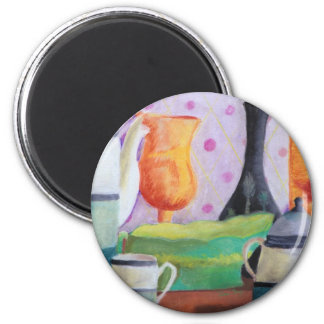 Bottlescape II - Abstract Alice Tea Party Magnet