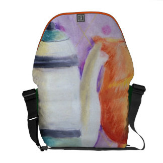 Bottlescape II - Abstract Alice Tea Party Messenger Bag