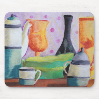 Bottlescape II - Abstract Alice Tea Party Mouse Pad