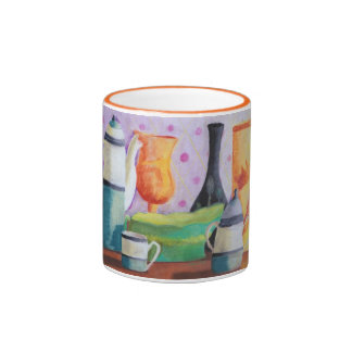 Bottlescape II - Abstract Alice Tea Party Mugs