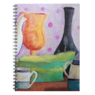 Bottlescape II - Abstract Alice Tea Party Notebook