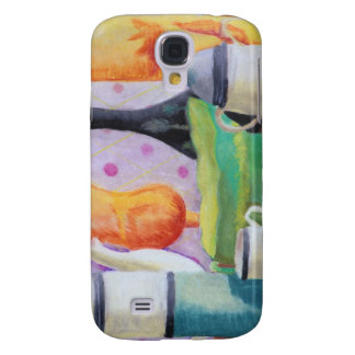 Bottlescape II - Abstract Alice Tea Party Samsung Galaxy S4 Case