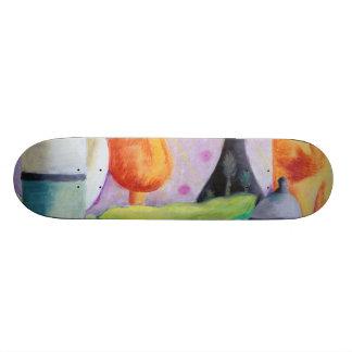 Bottlescape II - Abstract Alice Tea Party Skate Board Decks