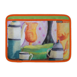 Bottlescape II - Abstract Alice Tea Party Sleeve For MacBook Air