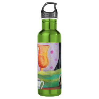 Bottlescape II - Abstract Alice Tea Party Stainless Steel Water Bottle