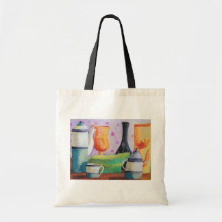 Bottlescape II - Abstract Alice Tea Party Tote Bag