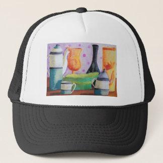 Bottlescape II - Abstract Alice Tea Party Trucker Hat