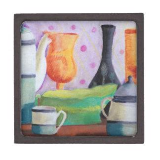 Bottlescape II - Fiesta del té abstracta de Alicia Cajas De Recuerdo De Calidad