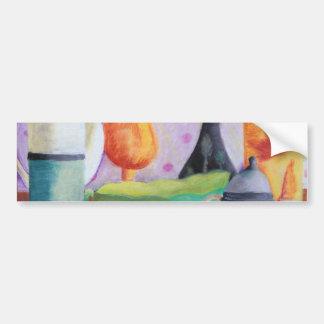Bottlescape II - Fiesta del té abstracta de Alicia Etiqueta De Parachoque