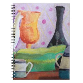 Bottlescape II - Fiesta del té abstracta de Alicia Cuadernos