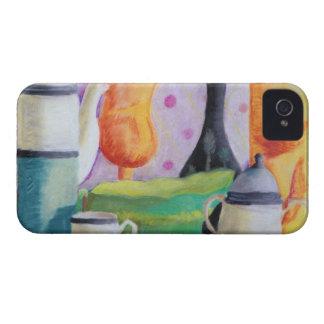 Bottlescape II - Fiesta del té abstracta de Alicia iPhone 4 Coberturas