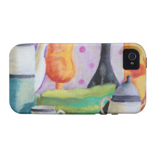 Bottlescape II - Fiesta del té abstracta de Alicia Case-Mate iPhone 4 Funda