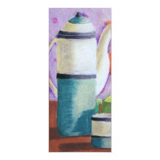 """Bottlescape II - Fiesta del té abstracta de Alicia Invitación 4"""" X 9.25"""""""
