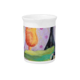 Bottlescape II - Fiesta del té abstracta de Alicia Jarras De Beber