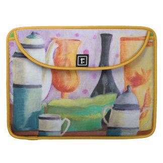 Bottlescape II - Fiesta del té abstracta de Alicia Funda Para Macbook Pro