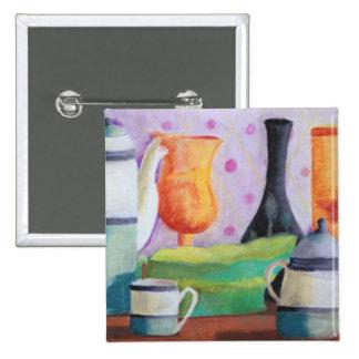 Bottlescape II - Fiesta del té abstracta de Alicia Pin Cuadrada 5 Cm