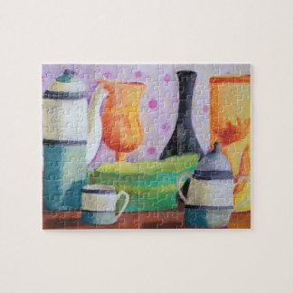 Bottlescape II - Fiesta del té abstracta de Alicia Puzzle Con Fotos