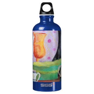 Bottlescape II - Fiesta del té abstracta de Alicia