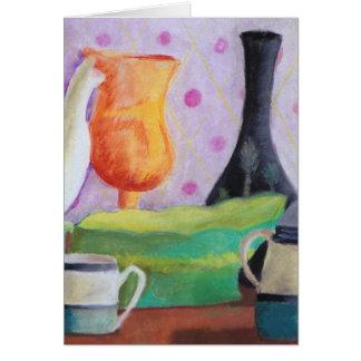 Bottlescape II - Fiesta del té abstracta de Alicia Tarjeta De Felicitación