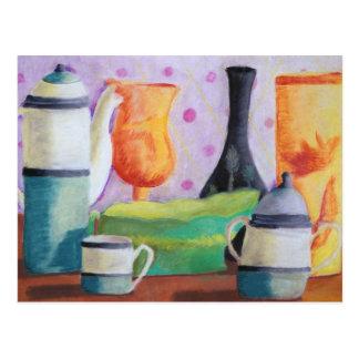 Bottlescape II - Fiesta del té abstracta de Alicia Postales