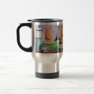 Bottlescape II - Fiesta del té abstracta de Alicia Tazas De Café
