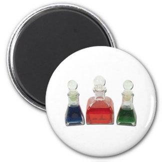BottlesColorfulLiquid010212 Fridge Magnet