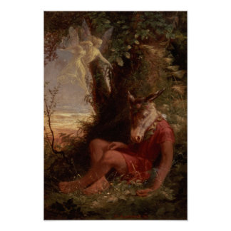 Bottom Asleep, 1891 Poster
