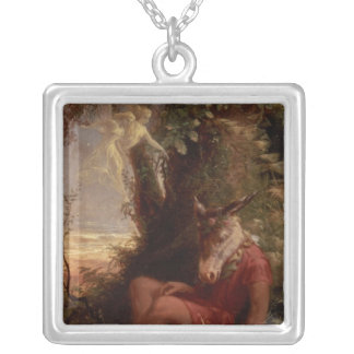 Bottom Asleep, 1891 Silver Plated Necklace
