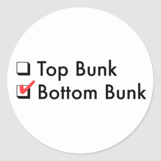 Bottom Bunk Stickers