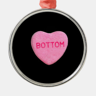 Bottom Candy Heart Christmas Ornaments