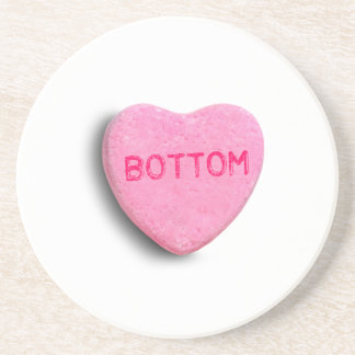 Bottom Candy Heart Drink Coasters