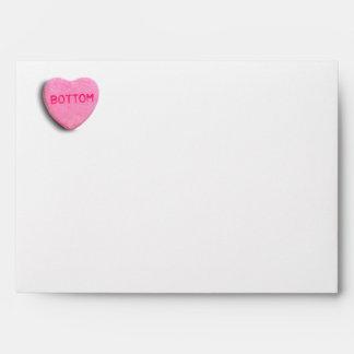Bottom Candy Heart Envelopes