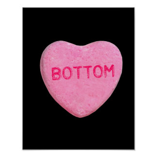 Bottom Candy Heart Poster