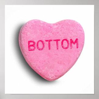 Bottom Candy Heart Print