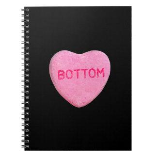 Bottom Candy Heart Spiral Notebook