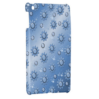 bottom degraded with flowers in blue iPad mini cover