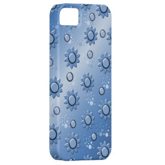bottom degraded with flowers in blue iPhone SE/5/5s case