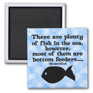 Bottom Feeders 2 Inch Square Magnet