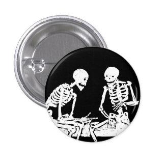 Bottom Jasmim Esqueletos Pin Redondo De 1 Pulgada