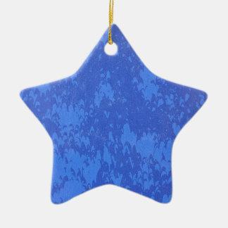 Bottom of blue colors ceramic ornament