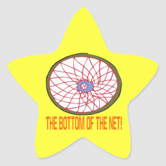 Bottom Of The Net Star Sticker