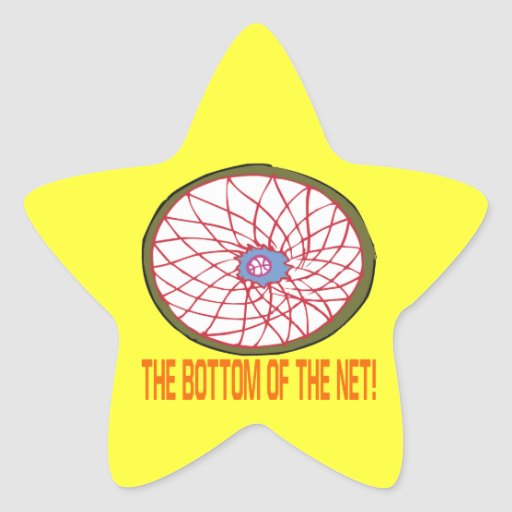 Bottom Of The Net Star Sticker