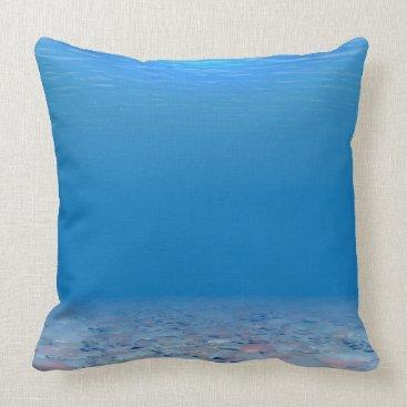 Ocean Themed Bottom of The Sea Throw Pillow