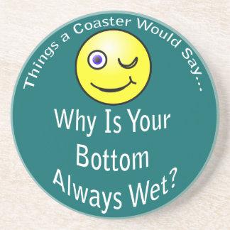 Bottom Wet Dark Coaster