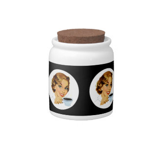 Bottomless Coffee Cup Candy Jars