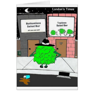 Bottomless Salad Funny Gifts & Collectibles Card
