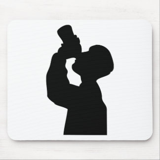 bottoms up - beer boozer mouse pad