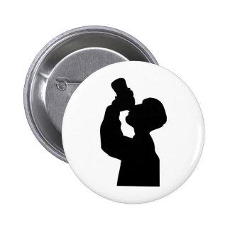 bottoms up - beer boozer pinback button