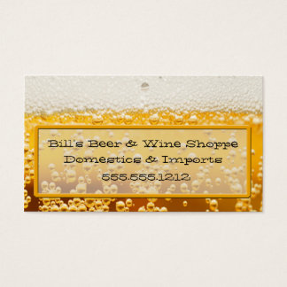 BOTTOMS UP BUSINESS CARD