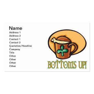 Bottoms Up Business Card Template